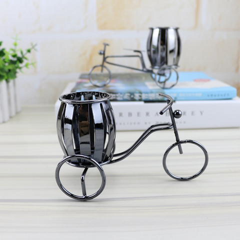 Home Decoration Accessories Wrought Iron Bicycle Pen Holder Creative Desktop Decoration Boutique Gift Decoration Small Gift Karachi