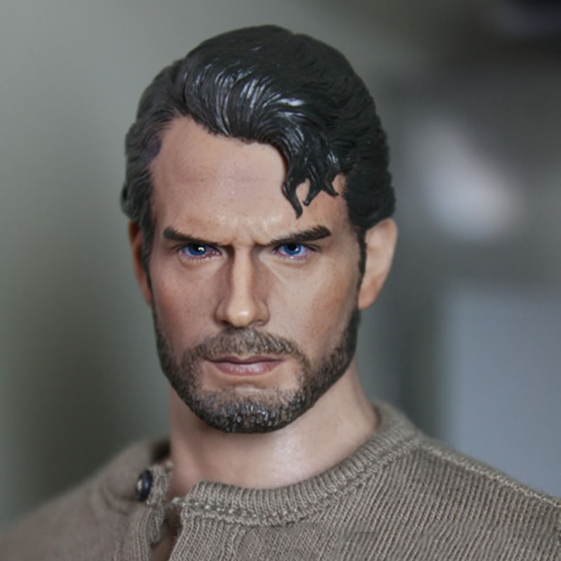 1/6 Scale Superman Henry Carvill Head Sculpt Beard Ramped Worker's Decadent Edition Headsculpt Model for 12 inches Male Figure brand new 1 6 scale head sculpt man of steel superman clark kent henry cavill head sculpt for 12 action figure model toy