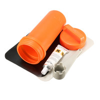 Inflatable Boat Kayak Repair Kit PVC Patch Glue Valve Wrench Container Bucket Swimming Pools Float Air