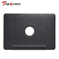 TopArmor Hoge Kwaliteit Zijde print PU Lederen Skin Hard Cover Case Voor macbook air pro retina 11 12 13 15 inch + toetsenbord cover