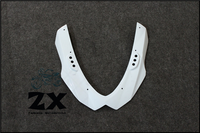 Complete Fairings For Upper Front Head Fairing Cowl Nose Cowl For GSXR1000 2009- 2015 Injection Mold ABS unpainted ZXMT unpainted front nose top fairing for triumph daytona 675 2009 2012 10 11 upper cowl