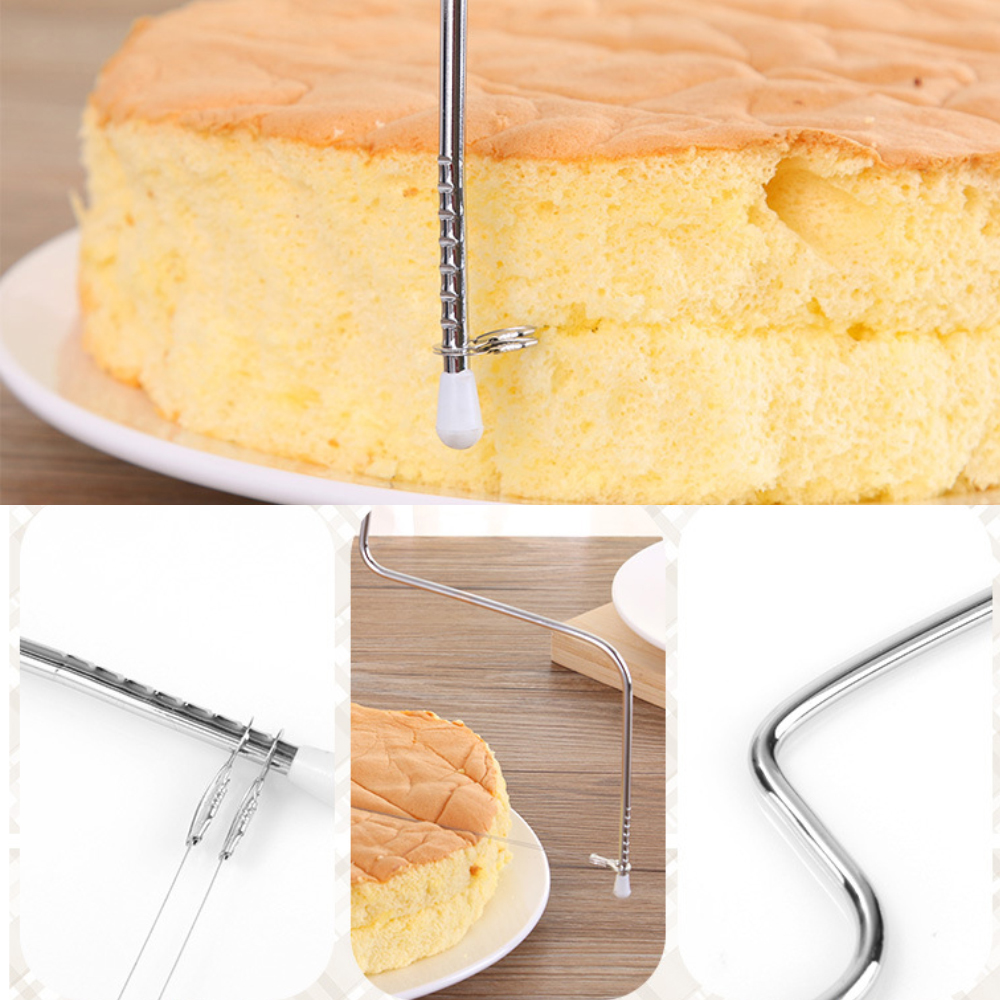 Adjustable 2-Wire Layer Cake Cutter and Leveler Stainless Steel Cake Cutting Tools for Pastry Baking Ktchen Accessories (3)