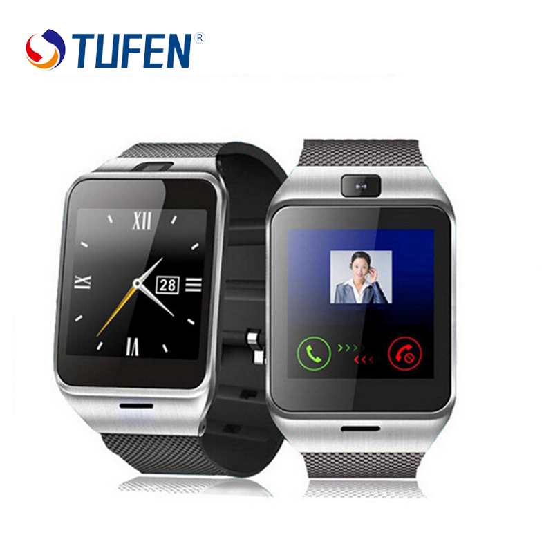 Galleria fotografica TUFEN GV18 Hommes Femmes Montre Smart Watch Soutien SIM Carte Dail Appel montre Téléphone <font><b>Smartwatches</b></font> Pour Android Windows Téléphone Pk dz09 gt08 a1