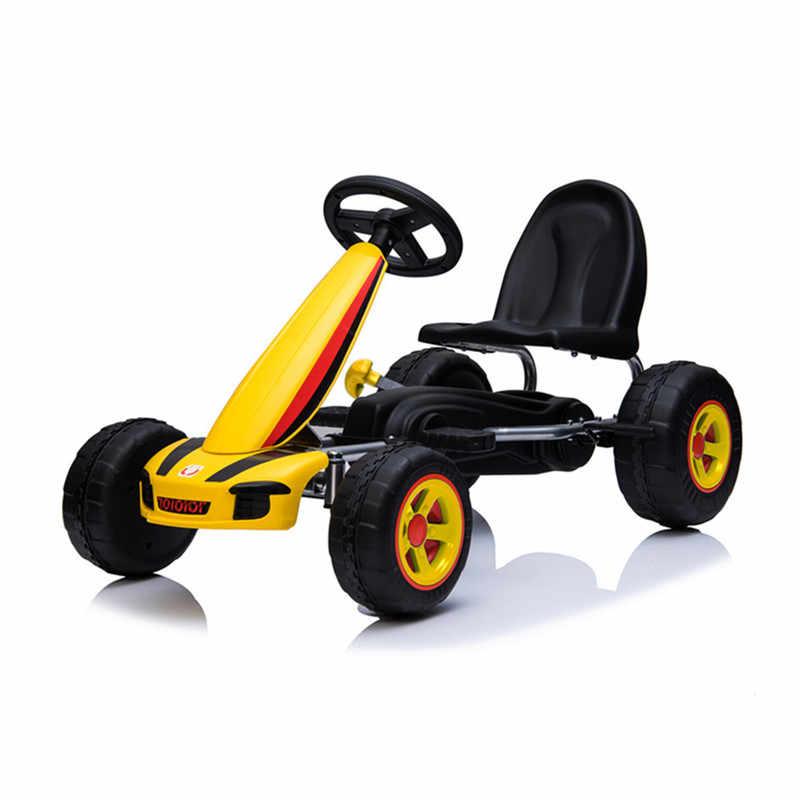 2019 nowy gokart na pedały 4 koła Push rower dla dzieci w wieku 3-8 lat jeździć na zabawki chłopcy dziewczyny urodziny prezenty aktywności na świeżym powietrzu