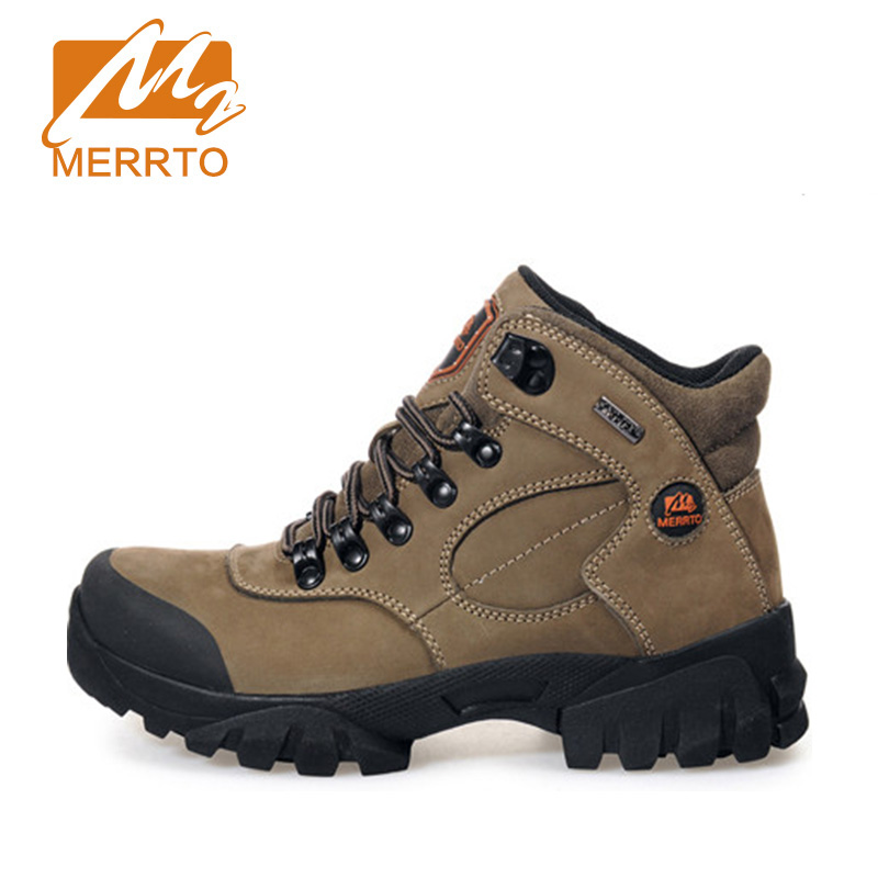 2018 Merrto Womens Outdoor Hiking Boots Waterproof Sports Shoes Full-grain leather Plus Velvet For Women Free Shipping 18001 2018 merrto womens outdoor walking sports shoes breathable non slip travel shoes for women purple rose red free shipping mt18665