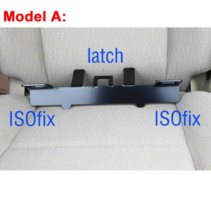 Universal trava isofix conector da correia de segurança do carro interfaces suporte guia para assento de segurança infantil no compacto suv & hatchback