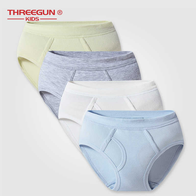 27768f1fa98a ... THREEGUN 1pcs Boys Panties Cotton Soft Kids Underwear Children's Shorts  Panties Boxers Stripes Teenager Boy Underpants