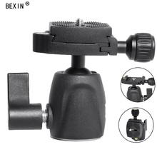 лучшая цена Mini Panoramic 360 Camera Head Rotation with Quick Release Plate Ball Head Tripod Swivel Head Camera for Canon Nikon dslr Camera