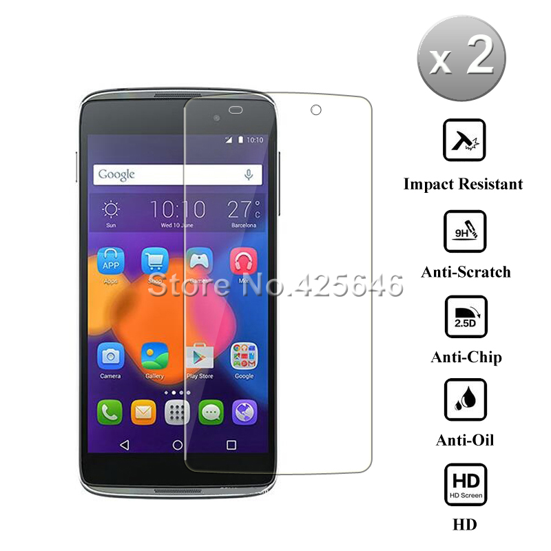 2pcs Idol 3 4.7 inch Glass 2.5D Tempered Glass For Alcatel One Touch Idol 3 4.7 inch Screen Protector Guard Film 6039H/J/S/Y/K