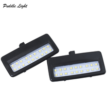 2X 18smd black LED vanity mirror lamp For BMW F10 F11 F07 F01 F02 F03 Led reading lights bulbs Car-styling auto parts White left led rearview side mirror indicator turn signal light direction blinker lamp for bmw f10 535i 550i ix f01 f07 f02 wn179 l