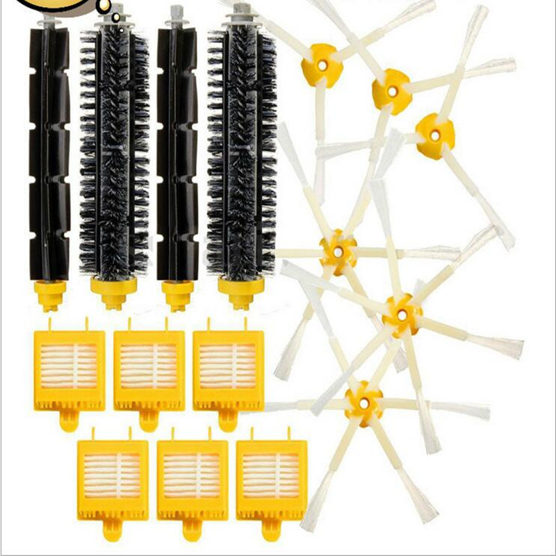 Robot 760/770/780/790 Vacuum Cleaner Accessories 2 Set Brush 3 Triangle Side Brush 3 Hexagon Side Brush 6 Hepa Filter 3 arm side brush