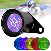 12V Universal Motorcycle Instruments Black Display Oil Level Meter LCD Gauge Tachometer Motorcycle Digital Speedometer Odometer lcd digital dashboard motocross tachometer gauge speedometer of racing motorcycle replacement refit sensor c0024 car styling