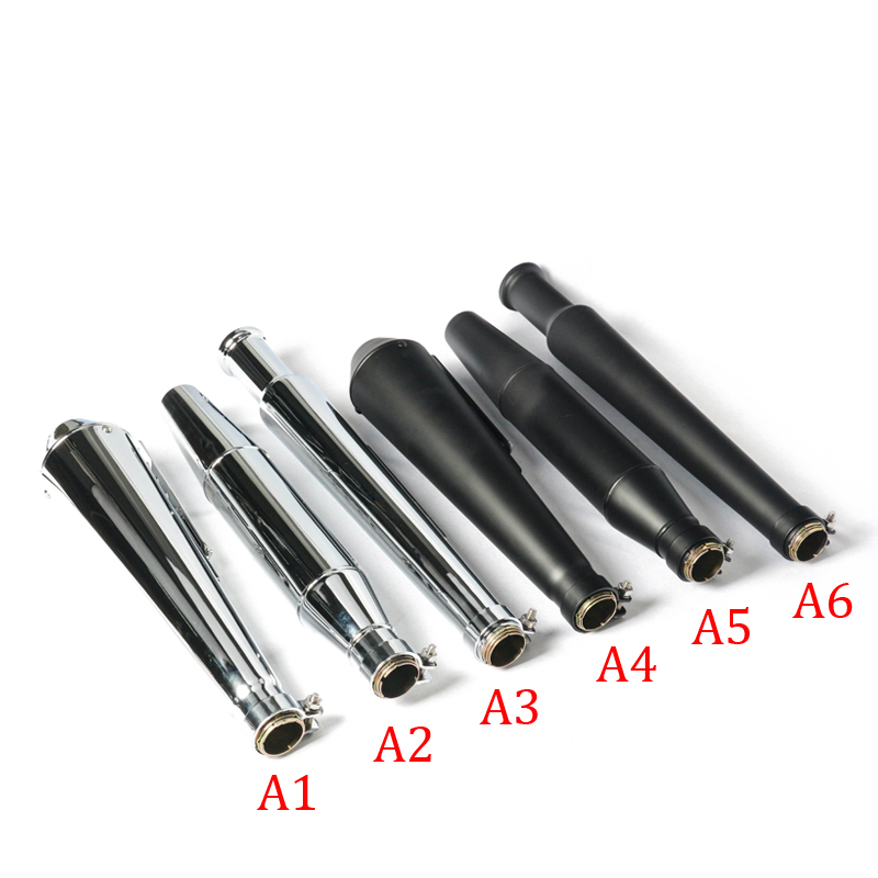 6 Color Available Universal Exhaust Muffler Modified Stainless Steel Moto Escape