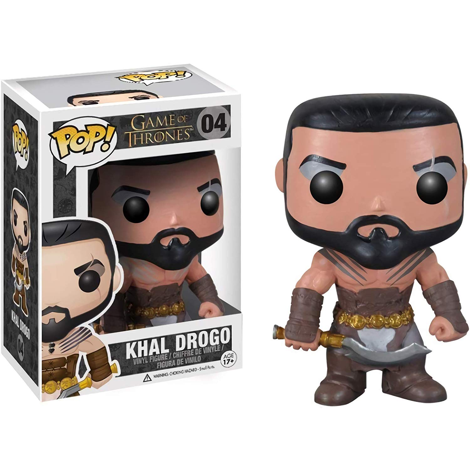 Official Funko pop Game of Thrones - Khal Drogo Vinyl Action Figure Collectible Model Toy with Original BoxOfficial Funko pop Game of Thrones - Khal Drogo Vinyl Action Figure Collectible Model Toy with Original Box