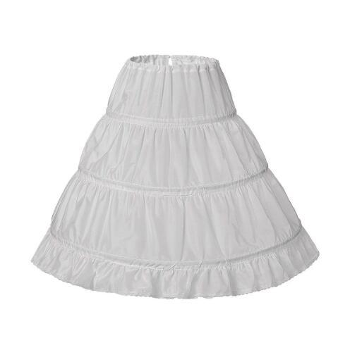 Hot Sale Petticoat Little Girls Skirt Crinoline 3 Hoops Used To Flower Girl Dress Puffy High Qulaity Kids Underskirt Cheap Price
