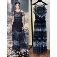 CD Printed Silk Printed Dress Fashion Style