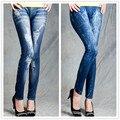 T233 новый стиль моды бесшовные леггинсы топ продавая высокое качество женщин леггинсы искусственные джинсы удобные леггинсы джинсы