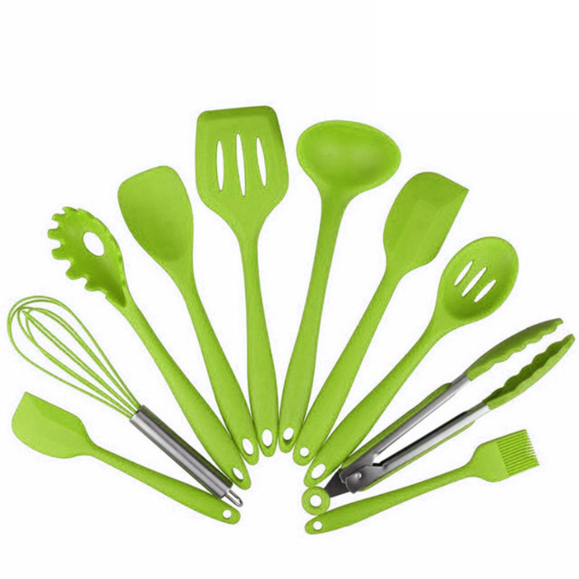 LeeQian New Design Kitchenware Silicone Heat Resistant Kitchen Cooking Utensils Non-Stick Baking Tool Cooking Tool Sets