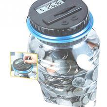 Kids Money Save Can Electronic USD Digital Box Dollar Saving Coin Counter Piggy Bank Jar Gift LCD Screen