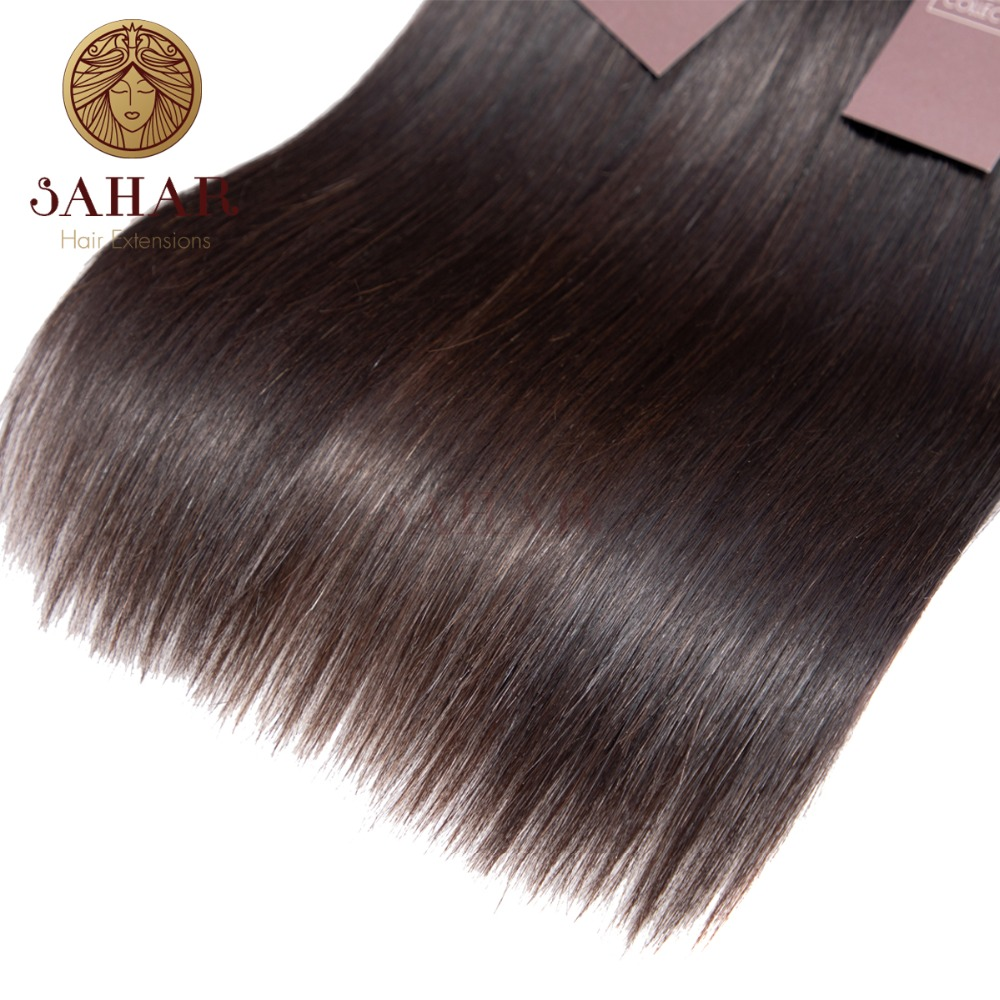 SAHAR Brazilian Straight Hair 1 3 4 Bundle Deals 12 24 inch Bundles Remy Extensions 100 Human Hair Weaving Natural Color in Salon Bundle Hair from Hair Extensions Wigs