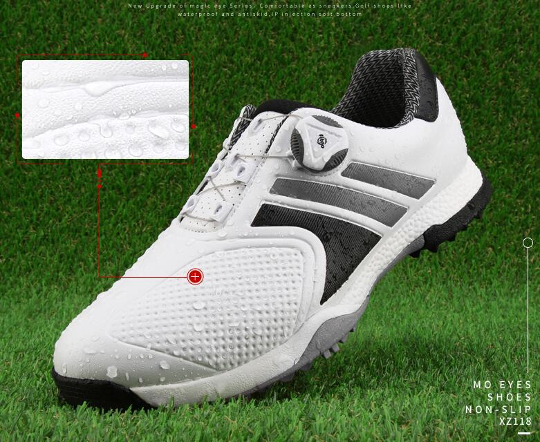 Charming! MO EYES golf shoes mens waterproof shoes widened version super soft shoesCharming! MO EYES golf shoes mens waterproof shoes widened version super soft shoes
