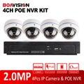 1080 P 4CH NVR Sistema Kit À Prova de Intempéries Ao Ar Livre Câmera Dome IP 2MP POE NVR Vigilância CCTV System Real-time gravação P2P, Onvif