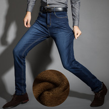 2018 New Men Activities Warm Jeans High Quality Famous Brand Autumn Winter Jeans warm flocking warm soft men jeans