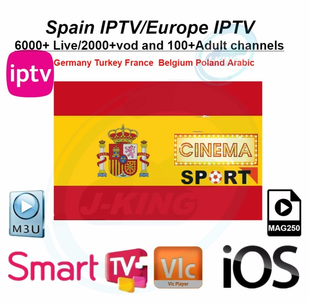 Spain IPTV Spanish Channel M3u Abonnement Iptv UK Italy Spaans france Germany Portugal Voor Android Box Enigma2 m3u Smart TV PC