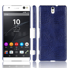 For Sony C5 Ultra E5553 Case Quality PC Crocodile Grain Back Cover Hard for Xperia Dual E5506 E5533