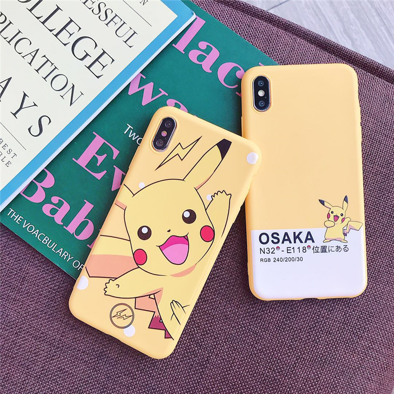 cartoon-cute-font-b-pokemon-b-font-pika-cases-cover-for-aplle-iphone-x-xr-xs-max-6-6-s-7-8-plus-yellow-pikachu-type-digital-soft-silicone-case