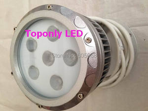 Светодиодный мини-проектор Эдисона, водонепроницаемый, IP65, 18 Вт, 24 в пост. Тока, серебристый корпус, срок службы более 50 000 часов, CE & ROHS,6 шт./лот...