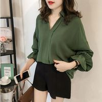 Sexy V Neck Womens Tops And Blouses Casual Tee Shirts Tops Elegant Long Sleeve Women Shirts Blouses