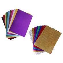 20 штук оригами Бумага смешанный стиль художественные ремесла Бумага-Гофрированная Бумага ремесла+ самоклеющиеся листы DIY бумажные игрушки аксессуары