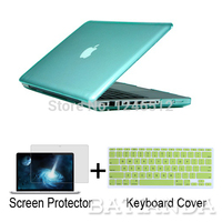 Christmas Gift Clear Crystal Rubberized Matte Surface Hard Cover Case Sleeve For Macbook Pro 13 15