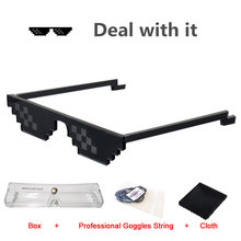 2017 Deal With It New Sunglasses Thug Life Women Men Mosaic Pixel Glasses Minecraft Polygonal Shades Masculine 8 Bits Style Neff