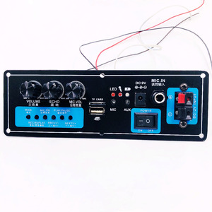 Image 3 - Wireless Speaker Bluetooth Audio Receiver 50W Digital Power amplifier Board subwoofer microphone Reverb 7.4V lithium battery