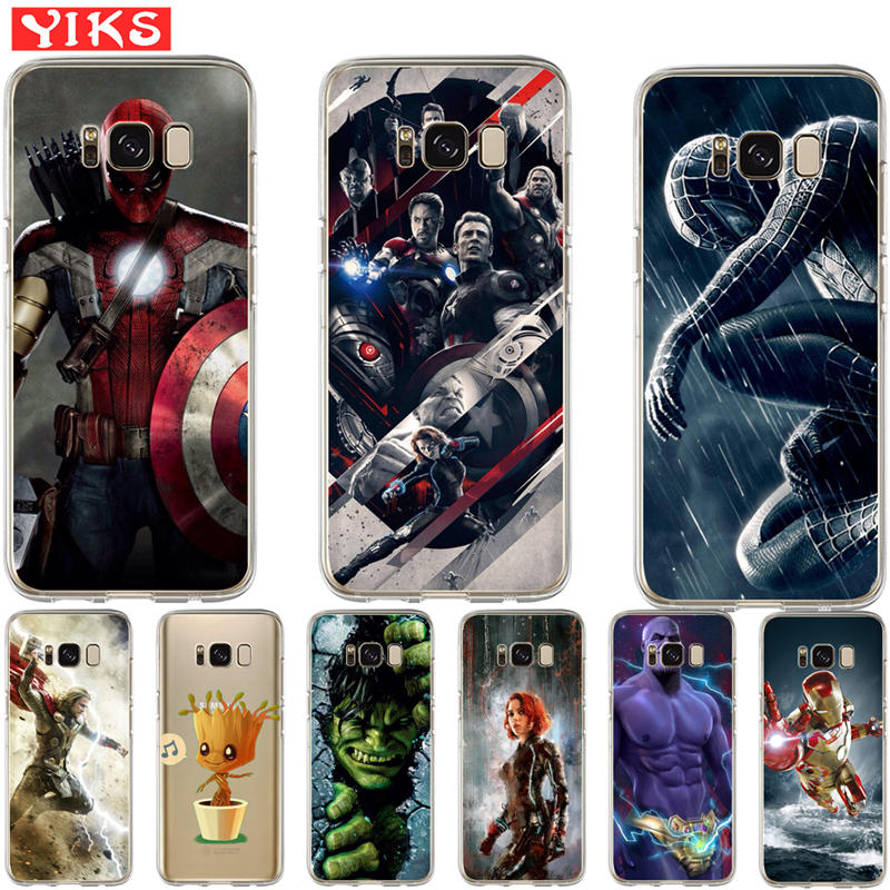 Luxus Marvel <font><b>Avengers</b></font> Fall Für <font><b>Samsung</b></font> S8 S9 Plus Note 8 weiche fall Für Coque <font><b>Samsung</b></font> <font><b>Galaxy</b></font> S6 <font><b>S7</b></font> Rand S8 S9 Plus Abdeckung image