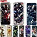 Роскошные Marvel чехол Avengers для samsung S8 S9 плюс Примечание 8 мягкий чехол для Coque samsung Galaxy S6 S7 край S8 S9 плюс крышка - фото
