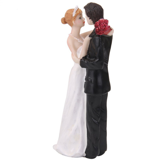 Romantic resin holding bride groom figures funny wedding cake romantic resin holding bride groom figures funny wedding cake topper personalized cake toppers in event and junglespirit Images