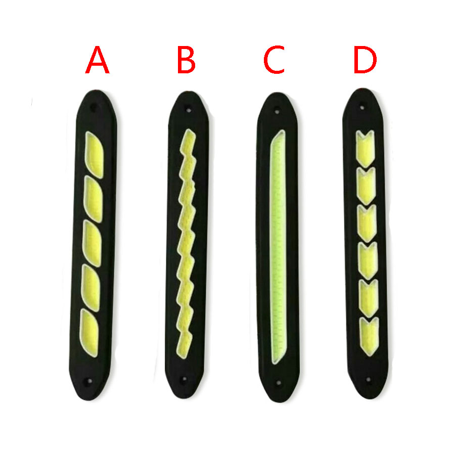 Car-Styling car driving drl daytime running lights Waterproof COB Day Time Work Lights Flexible LED For car driving light icoco led daytime running turn signal light bendable led car cob drl driving lamp waterproof day time lights two shapes