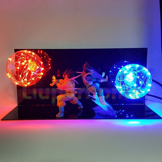 Dragon Ball Z Goku & Vegeta LED Lightning Light Figure