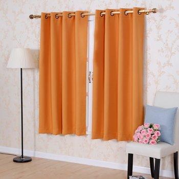 Сплошной цвет Термальность изоляцией плотные Шторы s 8 люверсами сплошной цвет Шторы Современные окна Шторы для спальни одной панели
