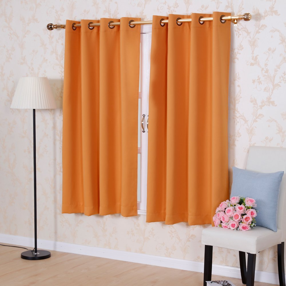 solid color thermal insulated blackout curtains 8 grommets. Black Bedroom Furniture Sets. Home Design Ideas