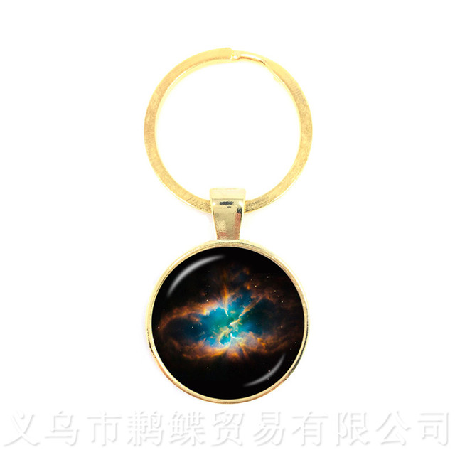Nebula Space Keychains Astronomy Geek Pendant Sci-fi Science Galaxy Space Glass Dome Keyring Gift For Friends 2