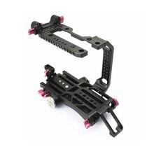 NOVO 15mm FS7 Kit Rig Gaiola Baseplate V dovetail placa para SONY FS7 câmera Tilta Movcam Filme Vídeo