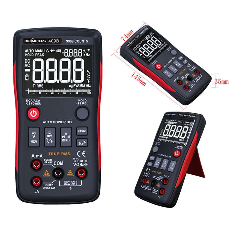 True-RMS Digital Multimeter Analog Bar Graph 9999 Counts Duty Cycle Voltage Ammeter Ohm Auto range Frequency Tempture bichot charles edmond graph partitioning
