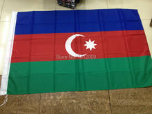 Free Shipping 90*150cm Hanging Azerbaijan National Flag Office/Activity/parade/Festival/Home Decoration 2014 New fashion(China)