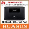 Desbloqueado 150 mbps 5200 mah batería huawei e5770 4g lte mobile wifi pro router con puerto rj45