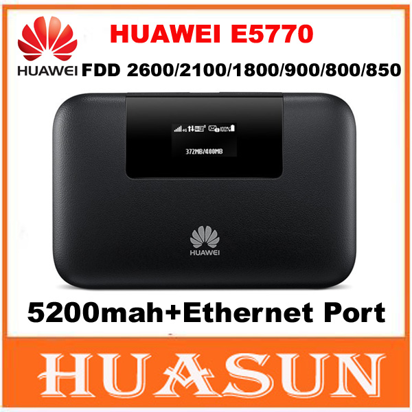 US $106 5 |Unlocked 150Mbps 5200mah battery Huawei E5770 4G LTE MiFi Mobile  WiFi Pro Router with RJ45 port-in Modem-Router Combos from Computer &