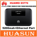 Unlocked 150Mbps 5200mah battery Huawei E5770 4G LTE Mobile WiFi Pro Router with RJ45 port
